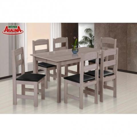 mesa arauna 6 cadeiras 529,00